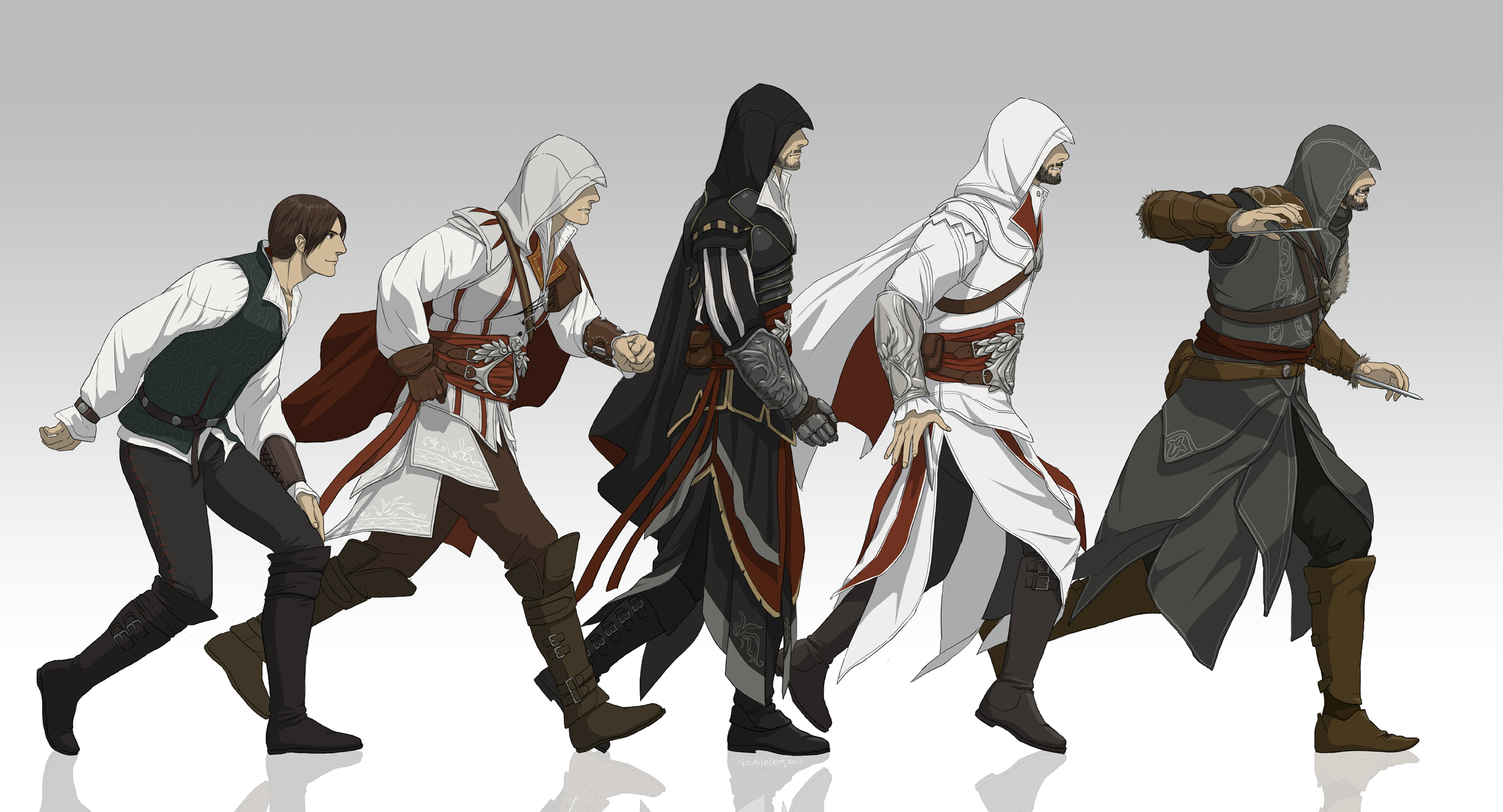 Evolution of Ezio by doubleleaf