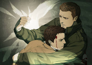 Dean and Castiel by doubleleaf