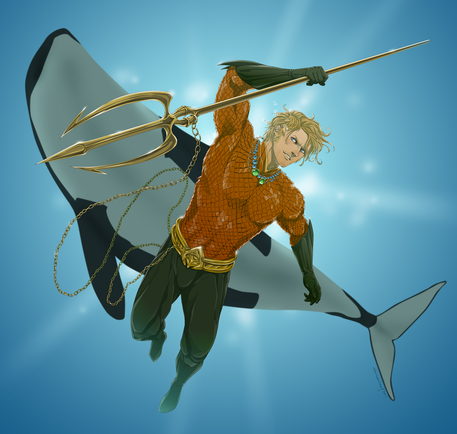 A for Aquaman by doubleleaf