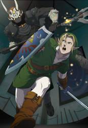 Link vs Phantom Ganon by doubleleaf
