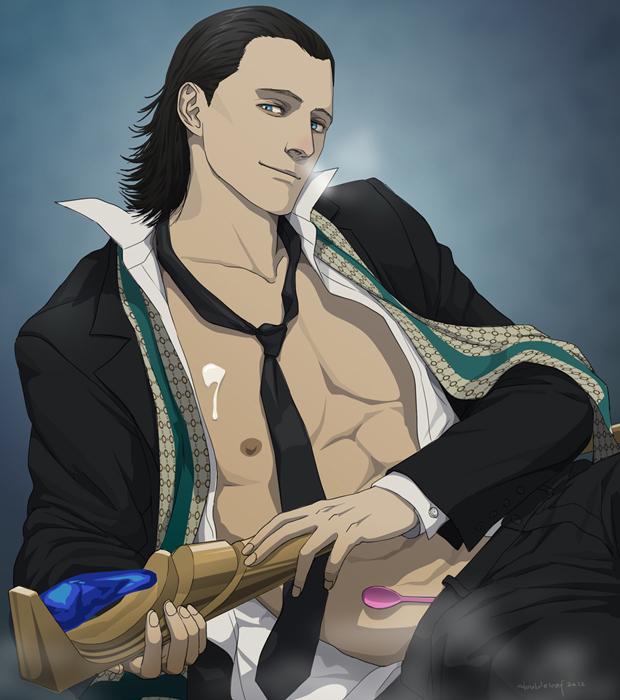 Loki's Yogurt Night by doubleleaf on DeviantArt