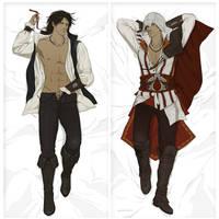 Commission:Ezio body pillow NSFW by doubleleaf