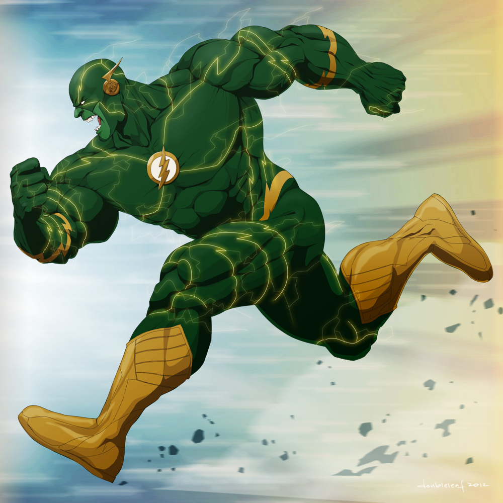 Flash Hulk by doubleleaf