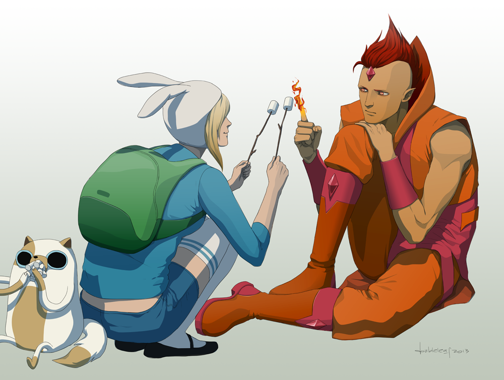 F is for Fionna and Flame Prince by doubleleaf