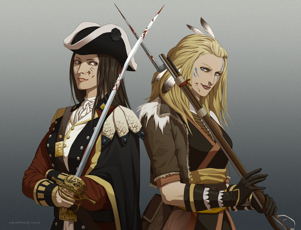 Redcoat and Pioneer by doubleleaf on DeviantArt