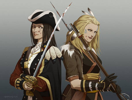 Redcoat and Pioneer