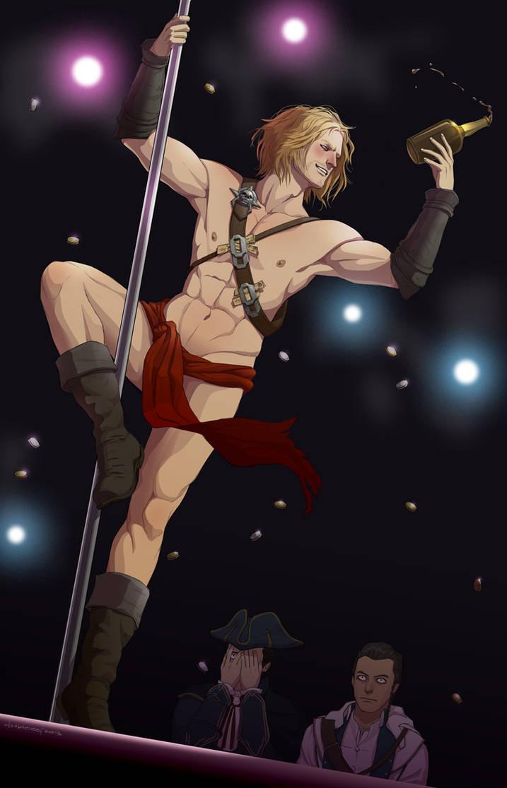 pole dancing Edward by doubleleaf