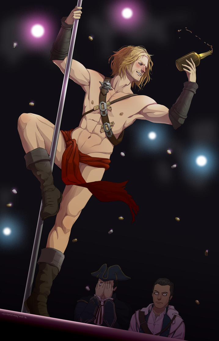 pole dancing Edward by doubleleaf