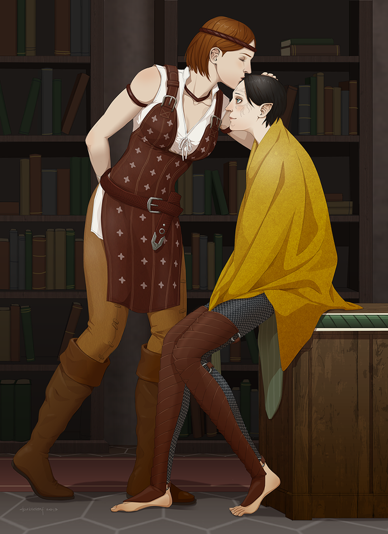 Merrill and Aveline by doubleleaf