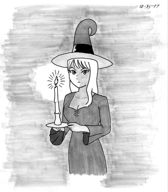 Candle Witch by chad-spider