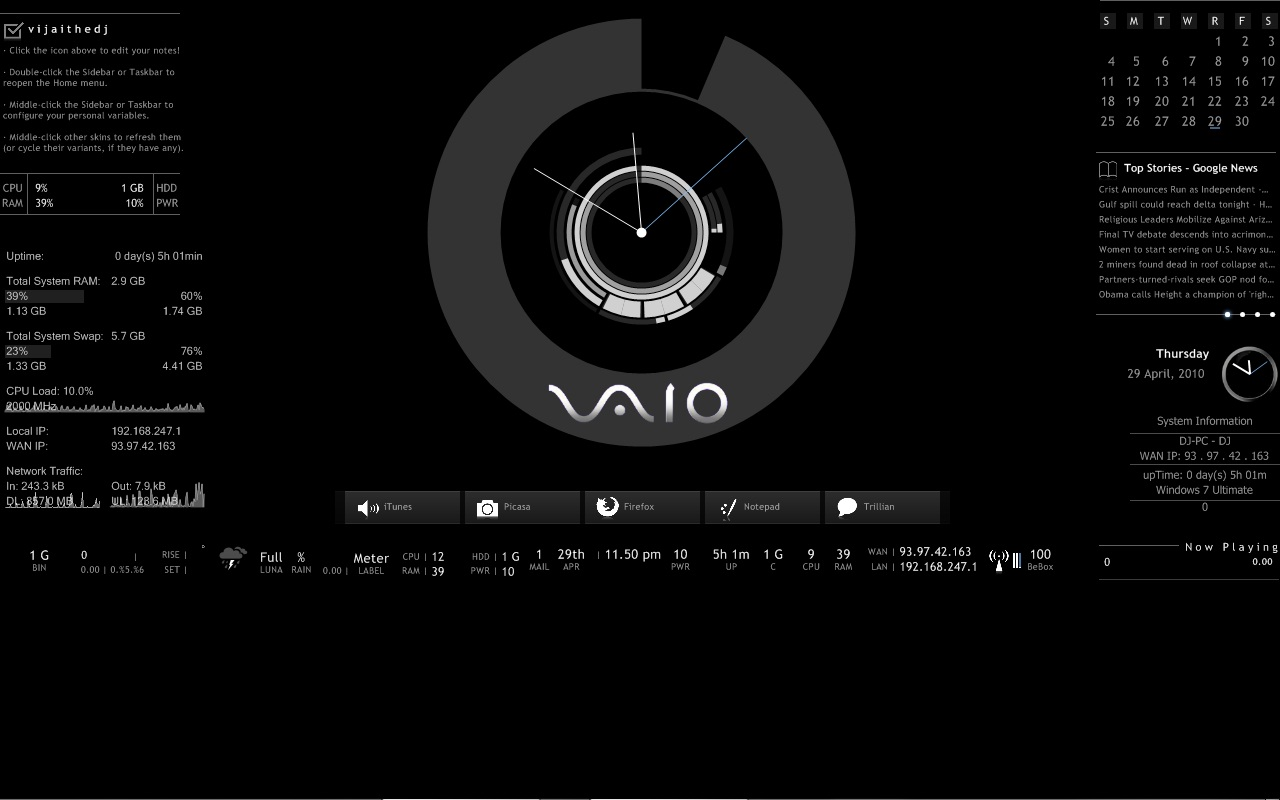 Vaio Wall Paper Black: Black Vaio By Vijtheone On DeviantArt