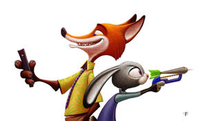 Zootopia - Fox and bunny