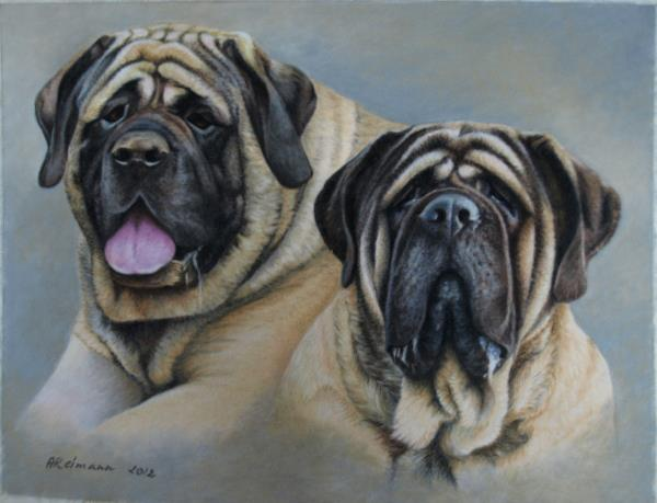 Mastiffs by ArtbyAnuR
