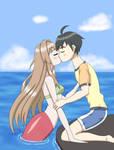 San and Nagasumi kiss