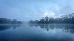 Misty Morning Mill Pond by snomanda