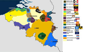 Post-apocalyptic map of Belgium