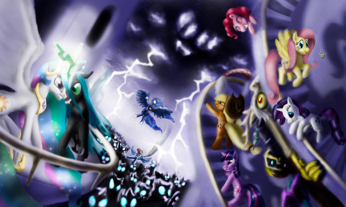 Canterlot Is Under Attack! by Zolombo