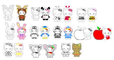Hello Kitty Pixel by BakaHammerGirl on DeviantArt