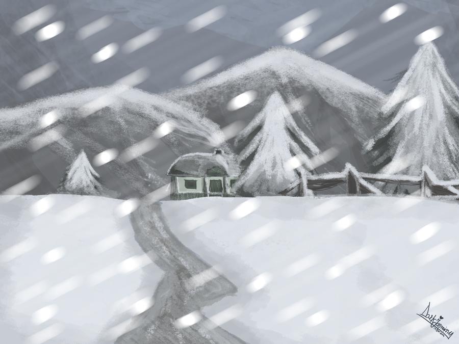 Commission4:Winter-Paint. by DarkJazmin11