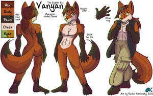 COMM - Vanyan the Fox Character Model Sheet