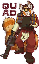 Quad the TF2 Demo Red Panda [Badge] by lastres0rt