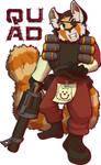 Quad the TF2 Demo Red Panda [Badge]