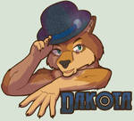 Badge - Dakota the Red Wolf