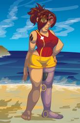 Daisy at the Beach by lastres0rt