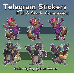 Peri + Skada [Telegram Stickers] [Commission]