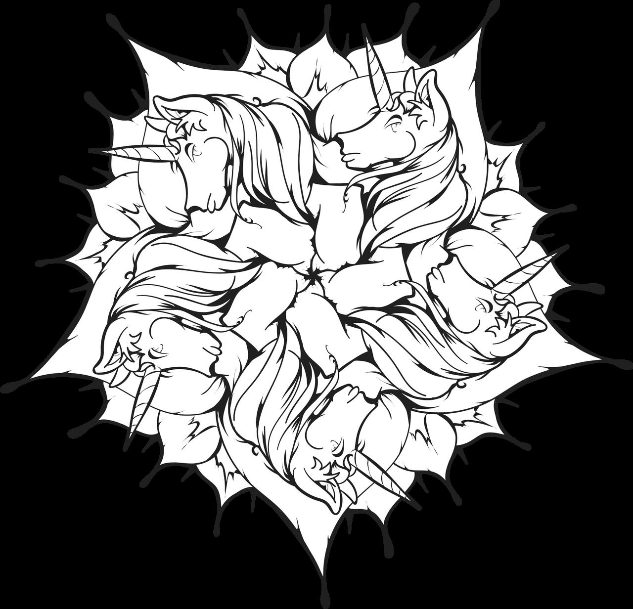 Unicorn Flower Mandala [Junicorn]