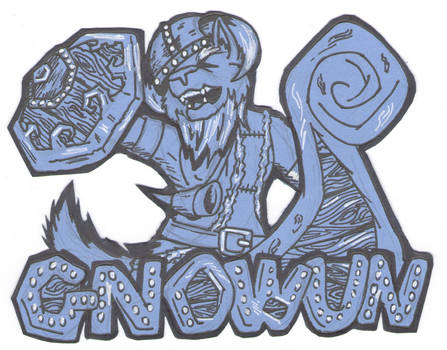 Gnowun the Viking Wolf [Badge] [Commission]
