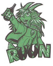 Ruun the Drunken Faun [Badge] [Commission]