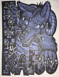 Big Blue Kaiju [Commission]