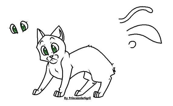 Warrior Cat Base 1 by Princessdarkgril
