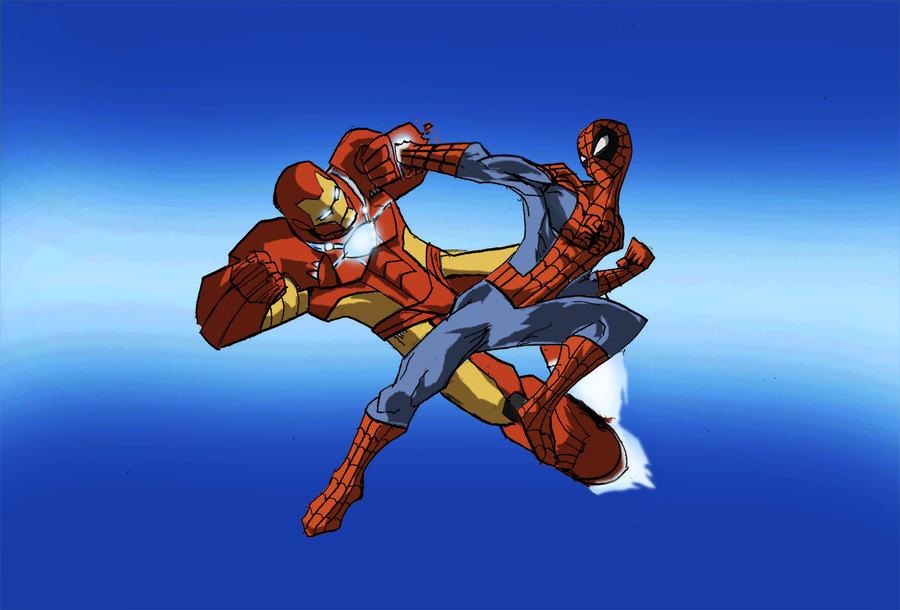 Iron spiderman vs spiderman - photo#14
