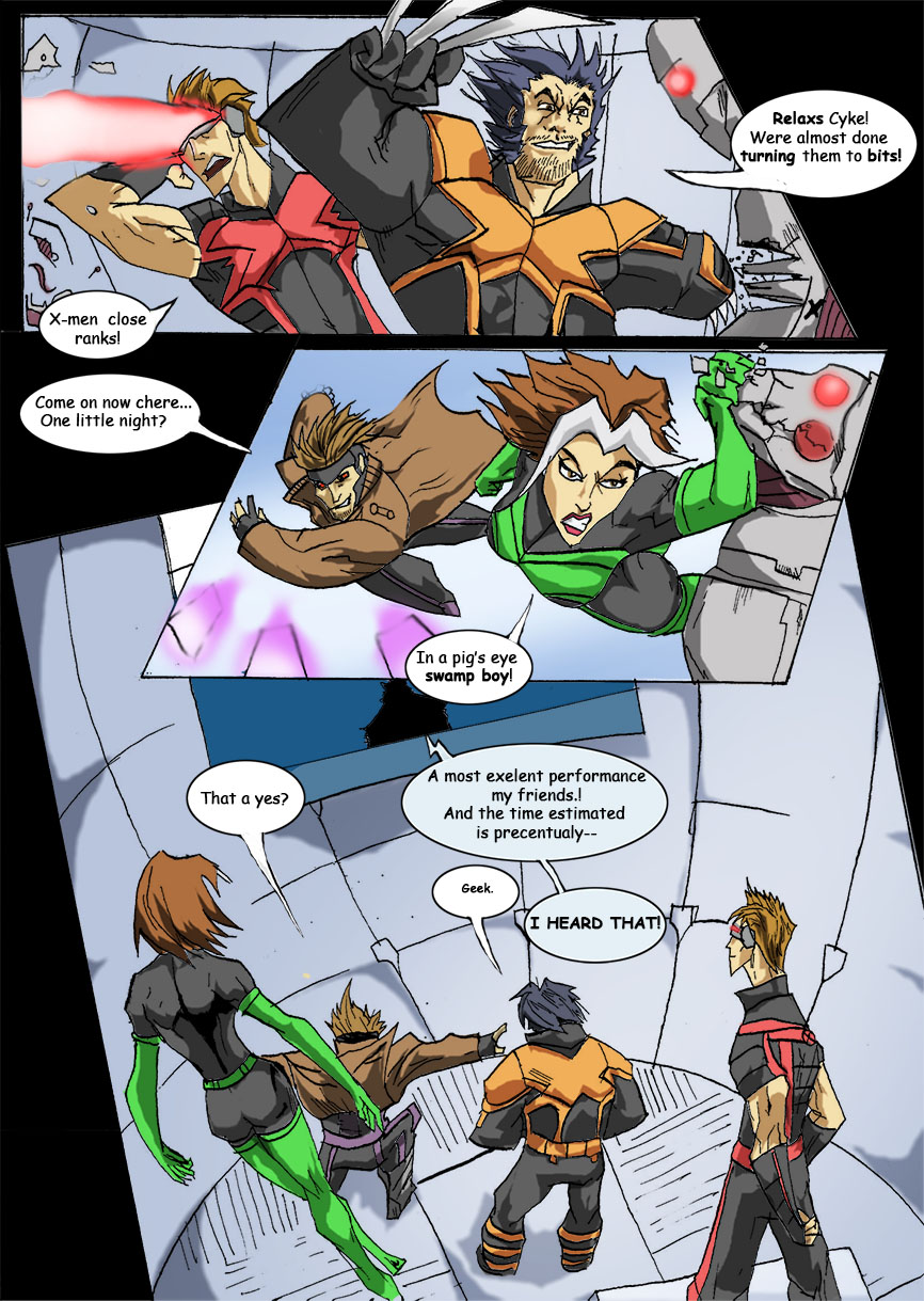 CONTEST ENTRY-X-men in the danger room by Sabrerine911
