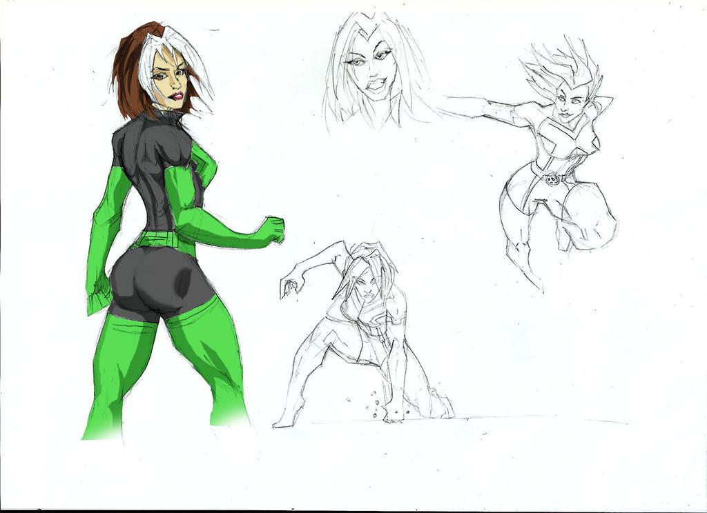 Rogue sketch version 2 by Sabrerine911