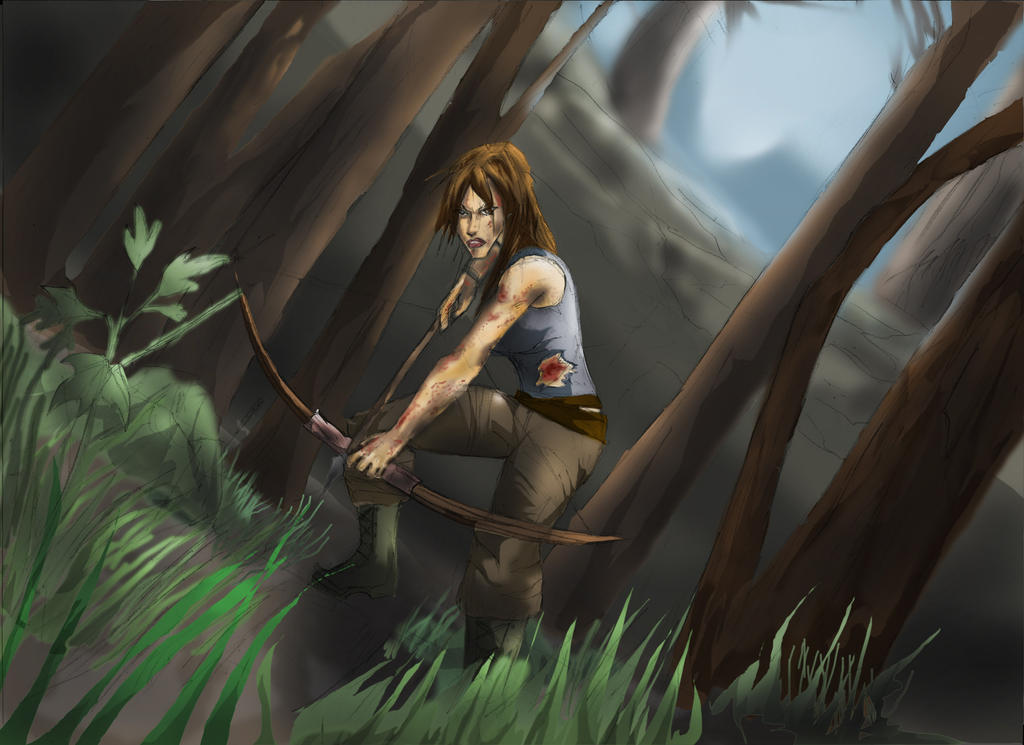 THOMB RAIDER LARA CROFT REBORN:CONTEST ENTRY by Sabrerine911