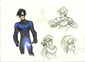 Nightwing sketch by Sabrerine911