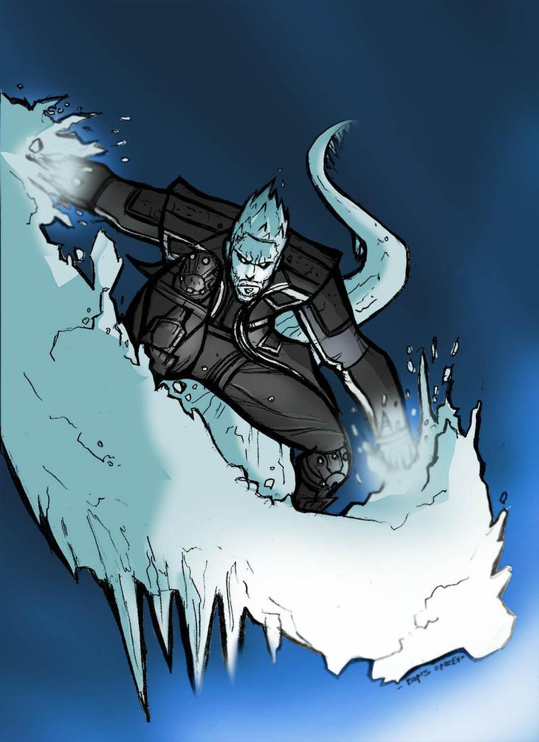 Iceman days of future past ice slide
