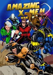 AMAZING X-MEN RODNEY.C.JACOBSEN VARIANT COVER by Sabrerine911