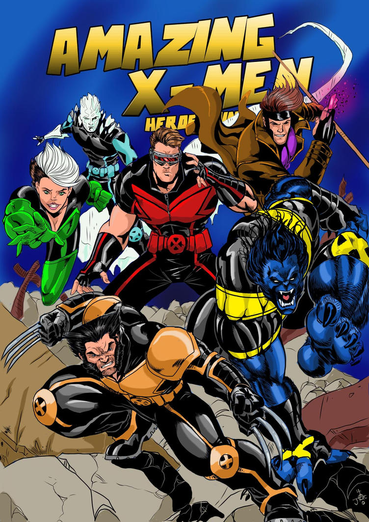 AMAZING X-MEN RODNEY.C.JACOBSEN VARIANT COVER by Sabrerine911