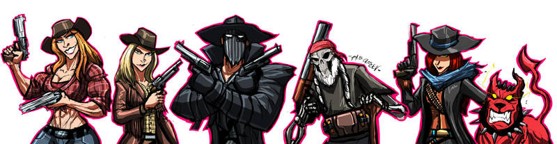 COMMISSION:OUTLAW GANG by Sabrerine911