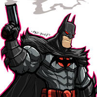 COMMISSION:FLASHPOINT BATMAN by Sabrerine911