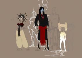 Character Design WIP by Naechtliche