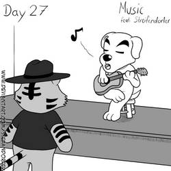 Inktober Day 27 - Music