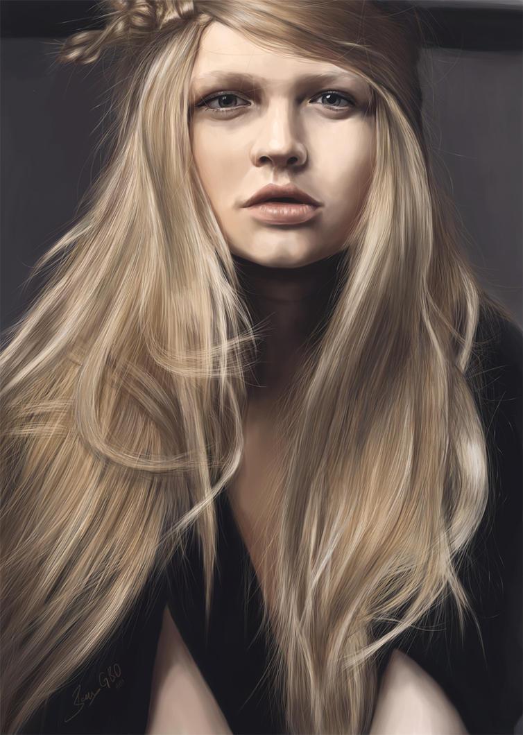 Katia Elizarova Digital Painting by barisgbo