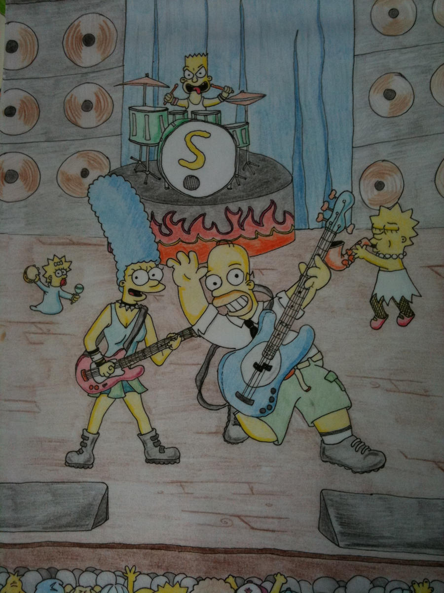 the simpsons by skatoonin