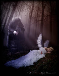 The Fallen Angel and the Vampire by teighe