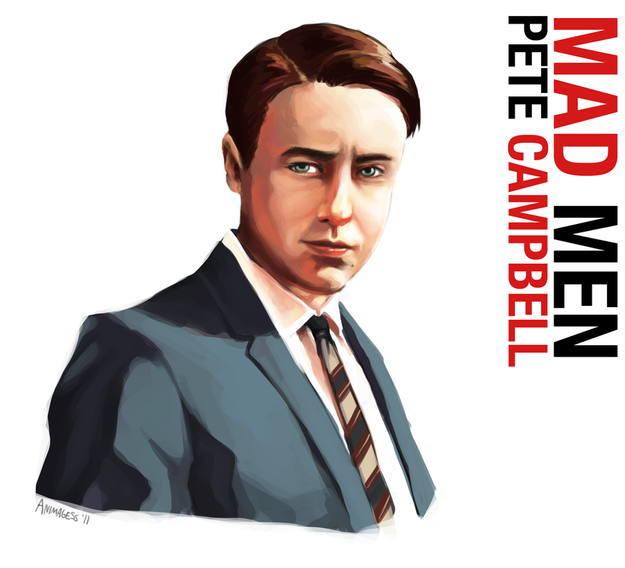 Pete Campbell Portrait by animagess